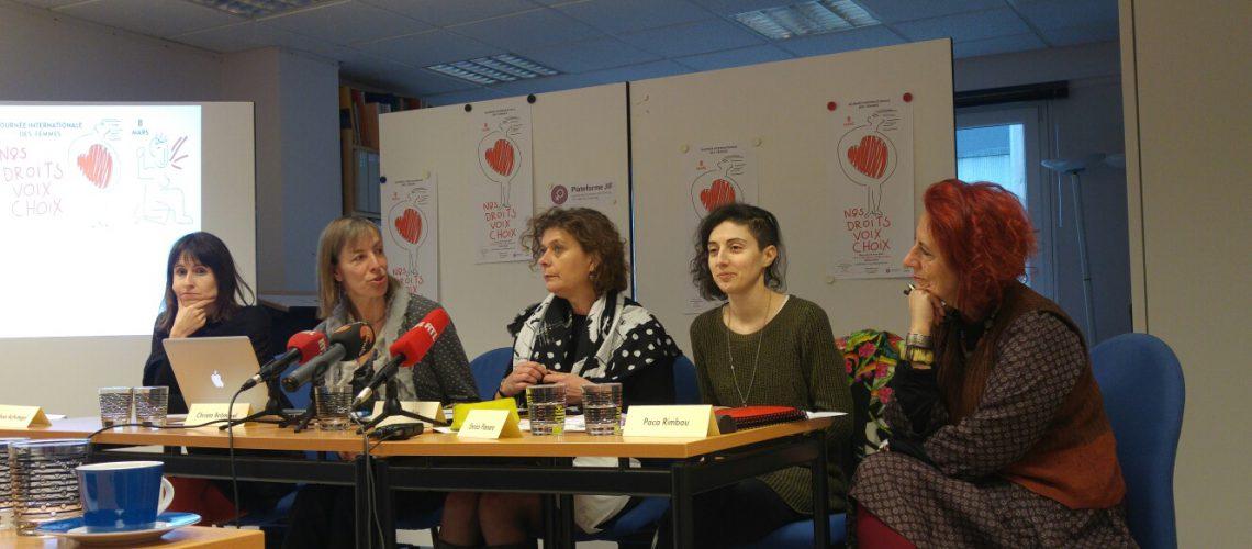 de gauche à droite: Ainhoa Achutegui, Christa Brömmel, Anik Raskin, Enrica Pianaro, Paca Rimbau Hernández