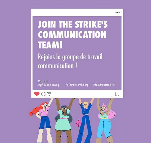 Join the Strike's Communication Team!
