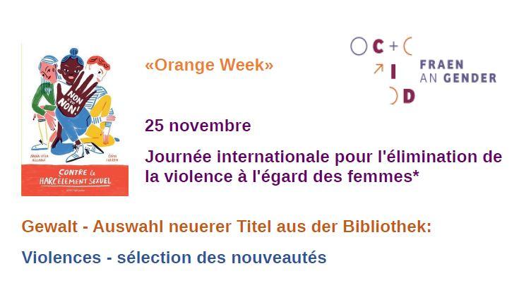 Liste de livres Journée Int contre les violences faites aux femmes